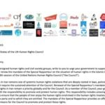 Lettre conjointe de la société civile sur le renouvellement du mandat du Rapporteur Spécial sur l'Iran