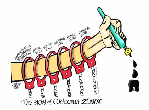 Malaysia: Cartoonist Zunar barred from travel and facing new investigation - Civic Space