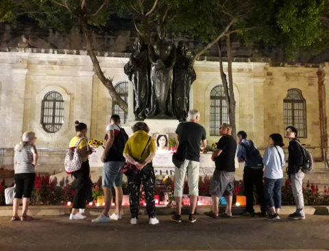 Malta: Court upholds right of protesters to build memorial to Daphne Caruana Galizia - Media