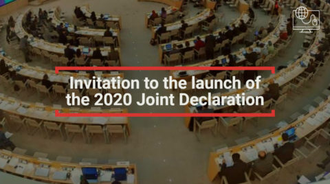 Online Event: Join Special Rapporteurs in the launch of the 2020 Joint Declaration -