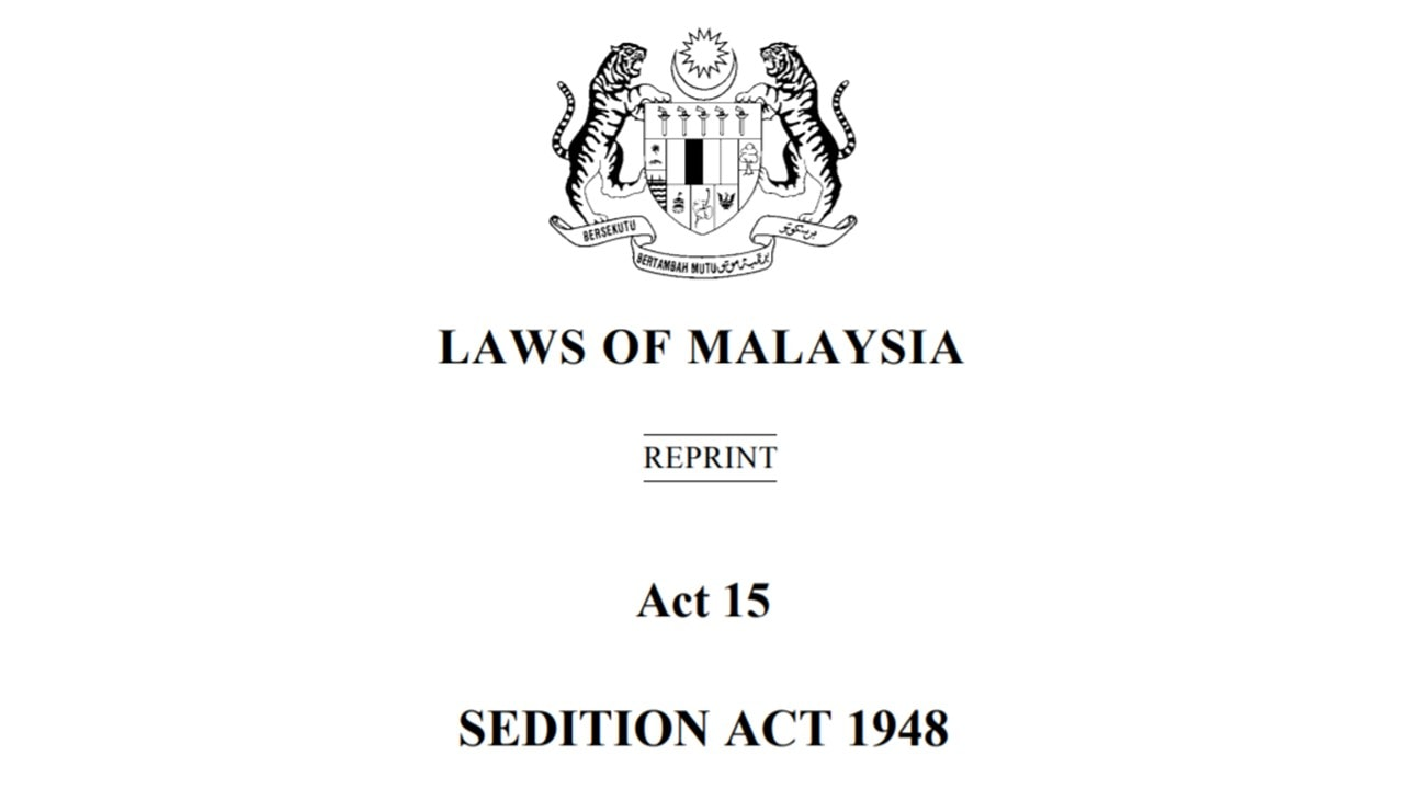 Malaysia: Repeal the Sedition Act - ARTICLE 19