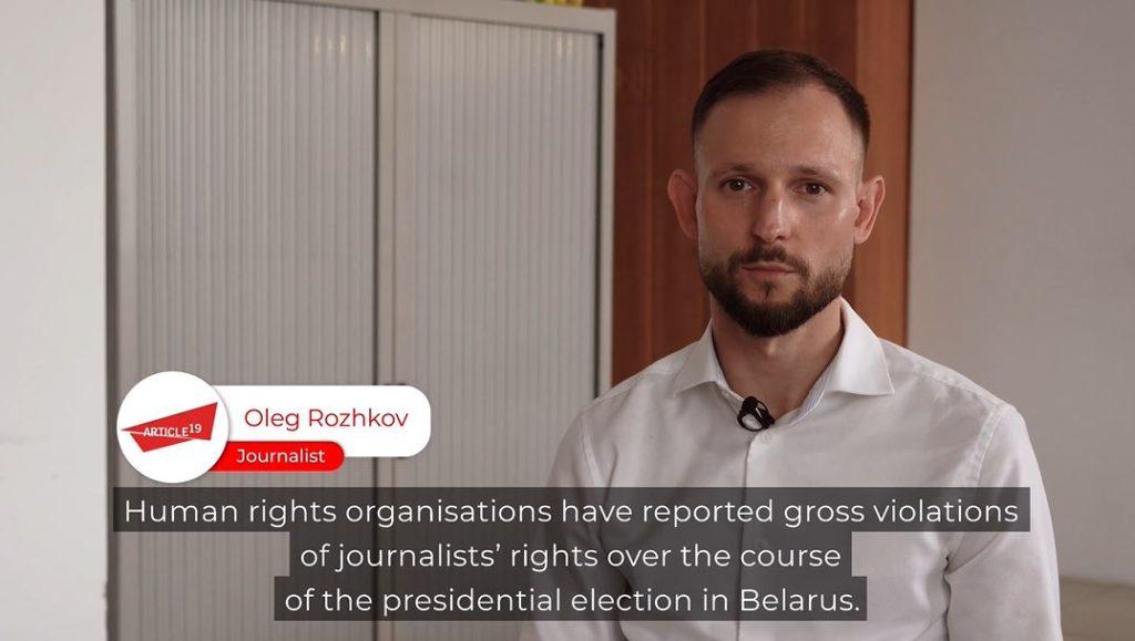Belarus Interview by Journalists4Tolerance's Oleg Rozhkov
