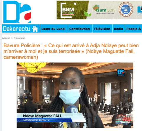 SENEGAL: Police should face prosecution for assault of a media camerawoman - Media