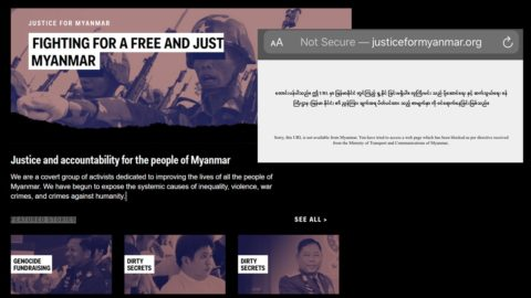 Myanmar: Government order to block campaign website is a dangerous escalation of online censorship - Transparency