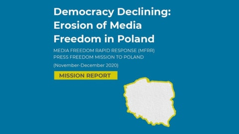 MFRR Report: Erosion of Media Freedom Gathers Pace in Poland - Media