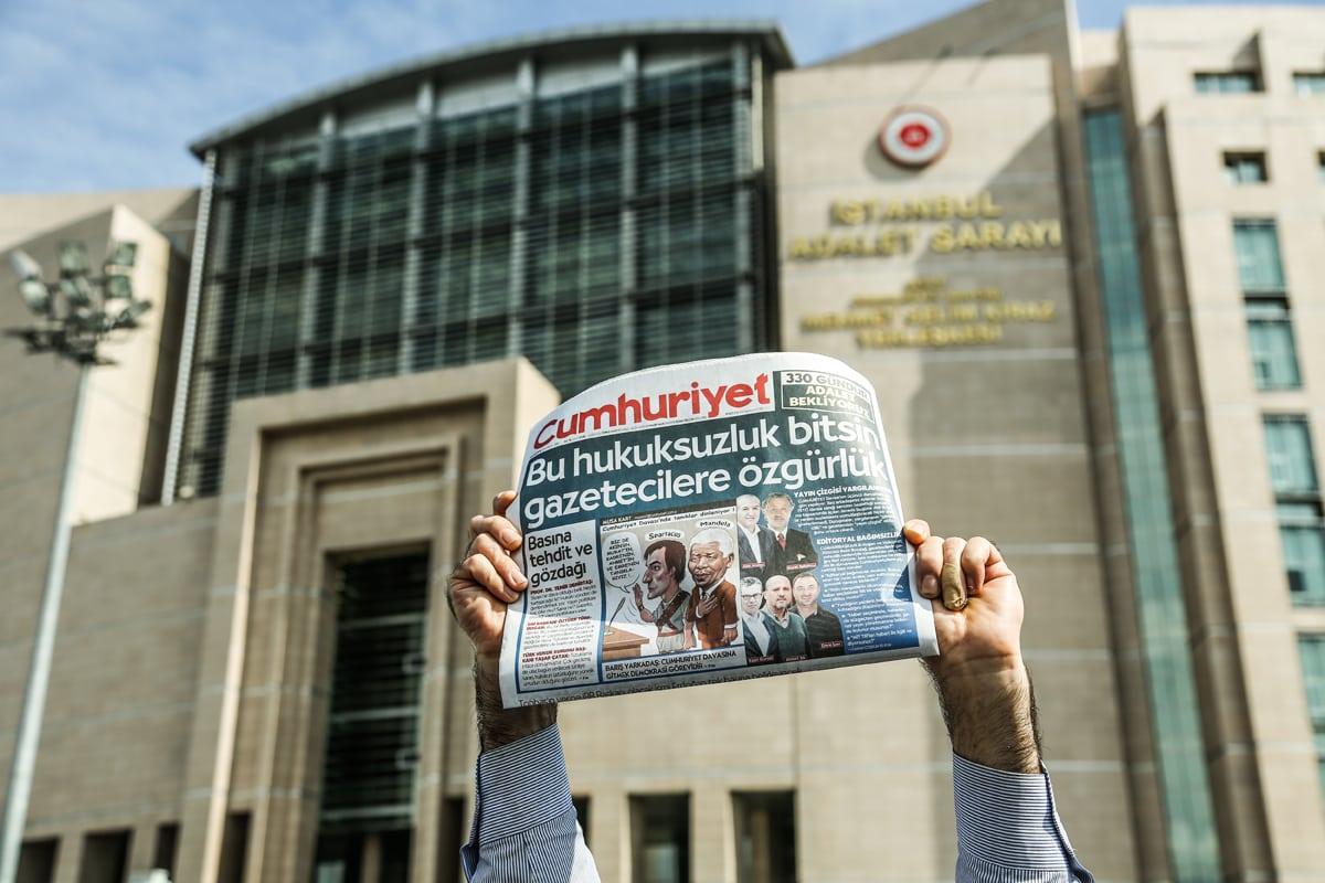 Cumhuriyet trial Caglayan courthouse